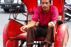 Java, Malang, Fahrrad Rikscha