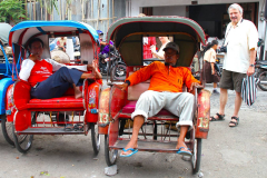 Java, Malang, Fahrrad Rikschas