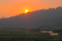 Java, Malang, Sonnenuntergang