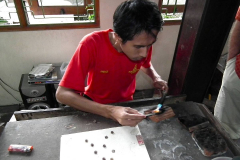 Java, Yogjakarta, Silber-Filigrantechnik