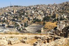 Jordanien, Blick von der Zitadelle auf das Römische Theater
