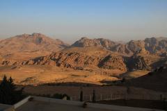 Jordanien, Wadi Musa, Blick vom Hotel