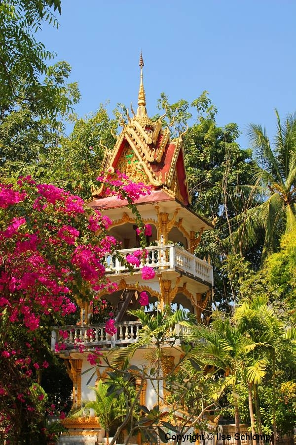 Laos, Vientiane, Wat Haysoke, Trommelturm