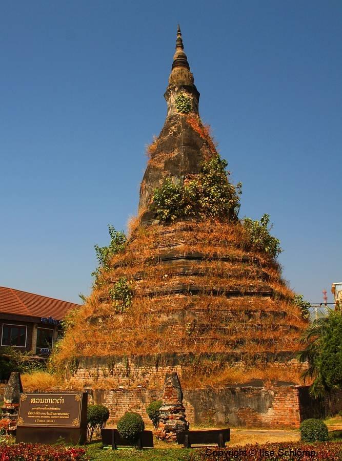 Laos, Vientiane, That Dam, Schwarze Stupa