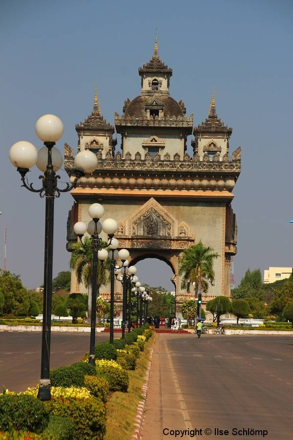 Laos, Vientiane, Patuxai, Siegestor