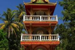 Laos, Vientiane, Wat Ong Teu, Trommelturm