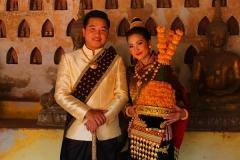 Laos, Vientiane, Brautpaar