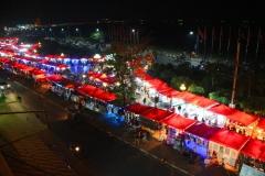 Laos, Vientiane, Blick auf den Nachtmarkt