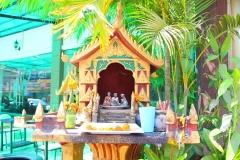 Laos, Vientiane, Geisterhäuschen
