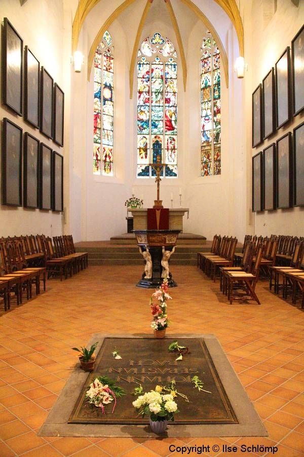 Leipzig, Thomaskirche, Grab von Johann Sebastian Bach