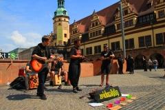 Leipzig, Musikgruppe vor dem Alten Rathaus