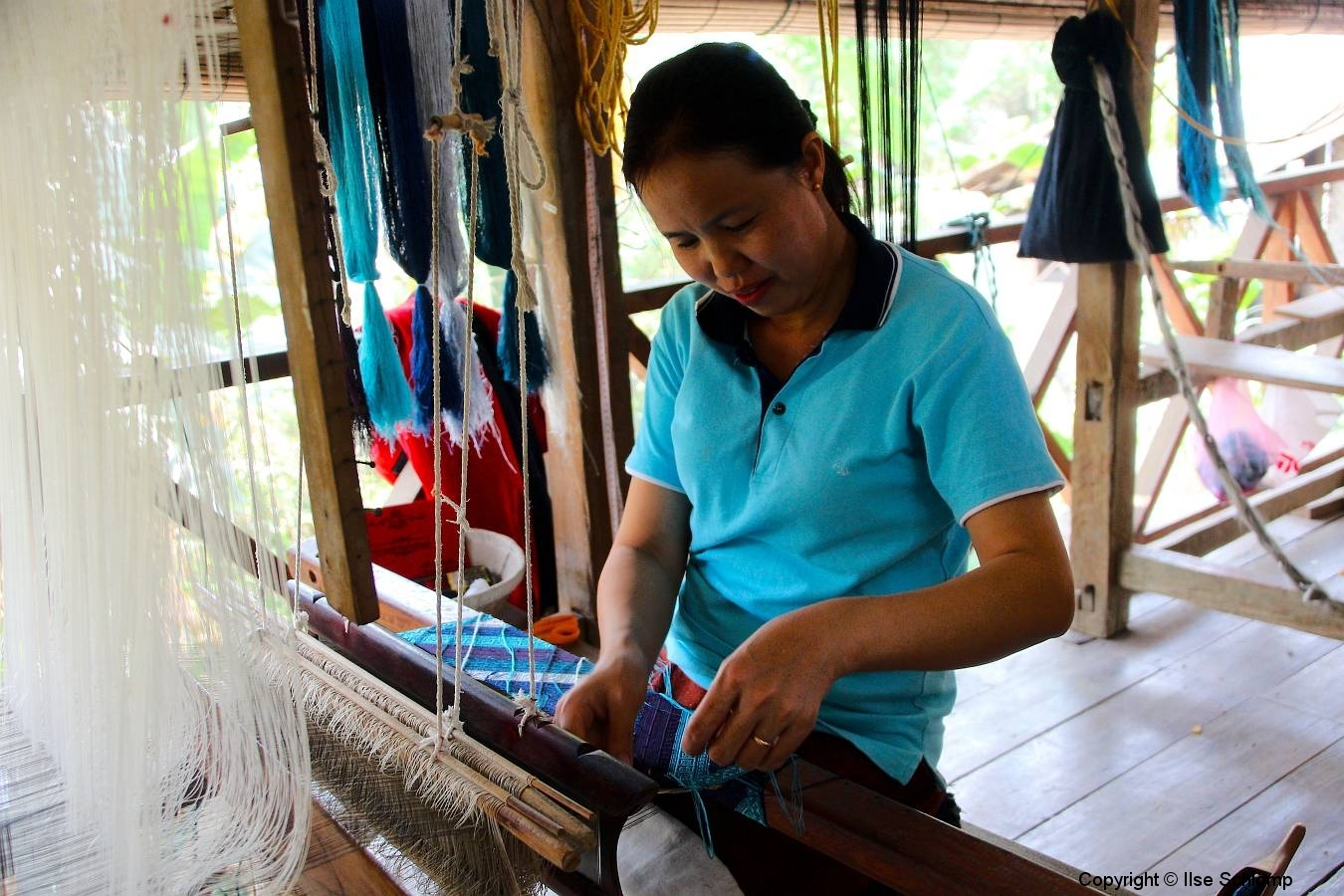 Laos, Luang Prabang, Ock Pop Tok Seidenweberei