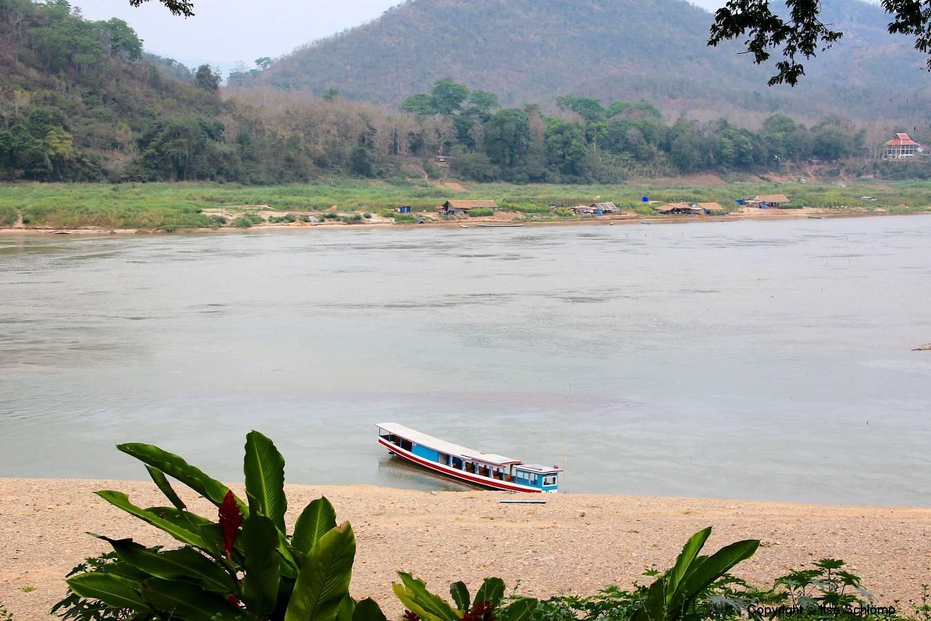 Laos, Luang Prabang, Am Mekong