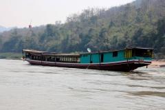Laos, Fahrt auf dem Mekong nach Luang Prabang