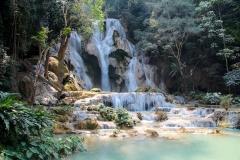 Laos, Luang Prabang, Kuang Si Wasserfall