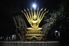 Laos, Luang Prabang, Wat Aham, Nachtaufnahme
