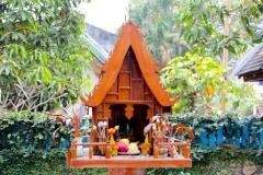 Laos, Luang Prabang, Geisterhäuschen