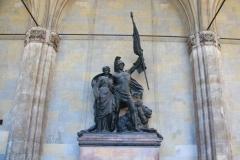 München, Armeedenkmal in der Feldherrnhalle