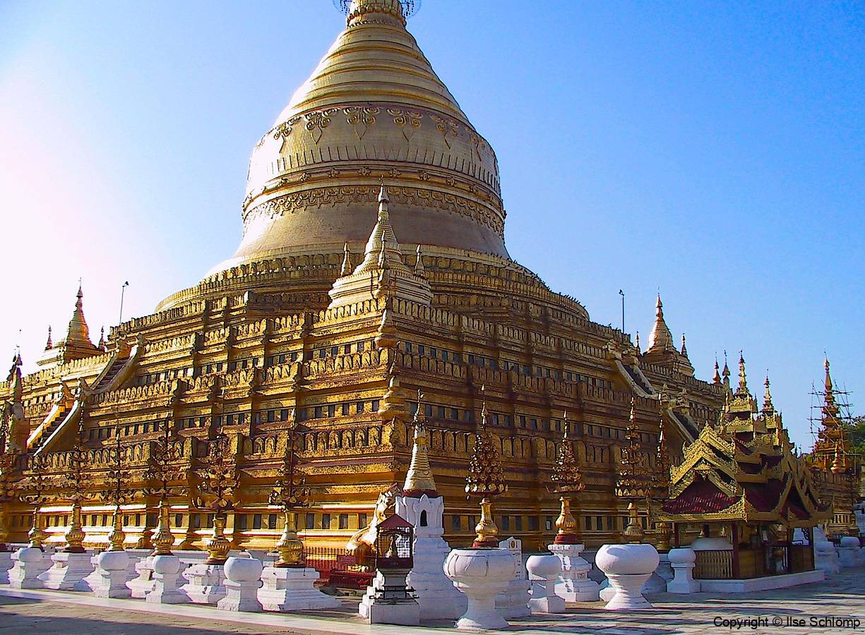 Myanmar, Bagan, Shwezigon Pagode
