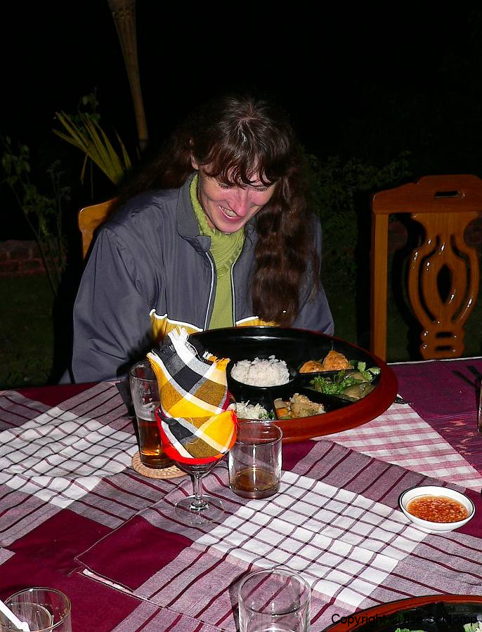 Myanmar, Bagan, Abendessen in Sithu