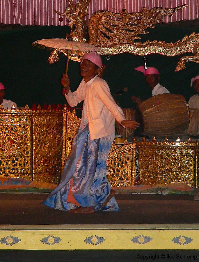 Myanmar, Bagan, Sithu, Birmanisches Tanz- und Marionettentheater