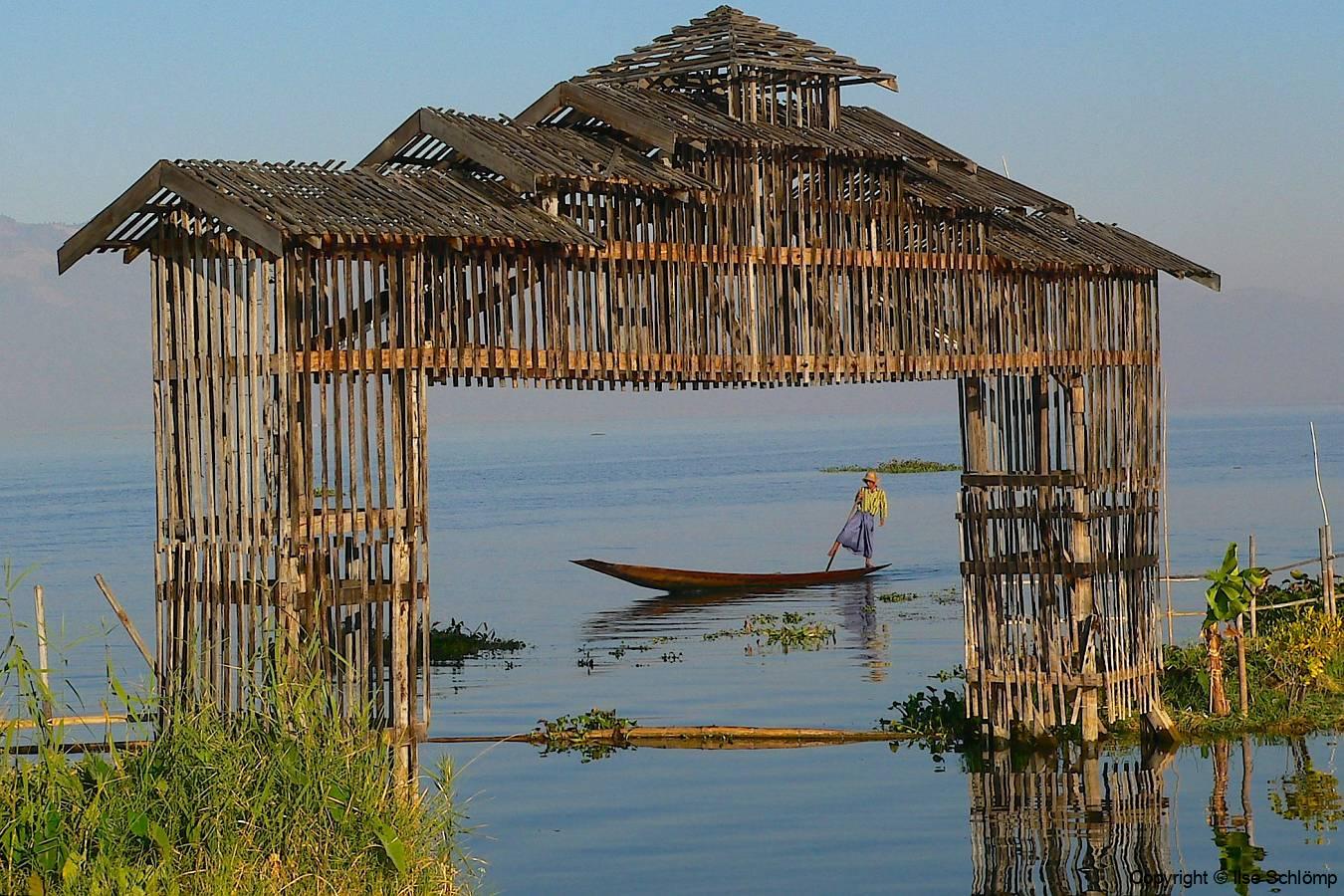 Myanmar, Inle-See, Eingang Paradise Inle Resort