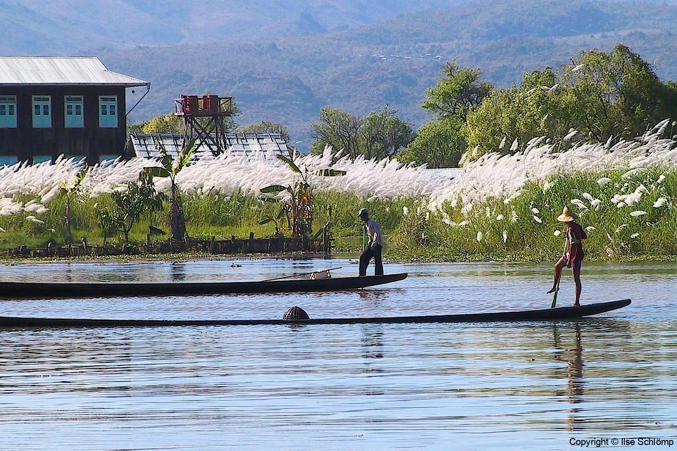 Myanmar, Inle-See, Einbeinruderer