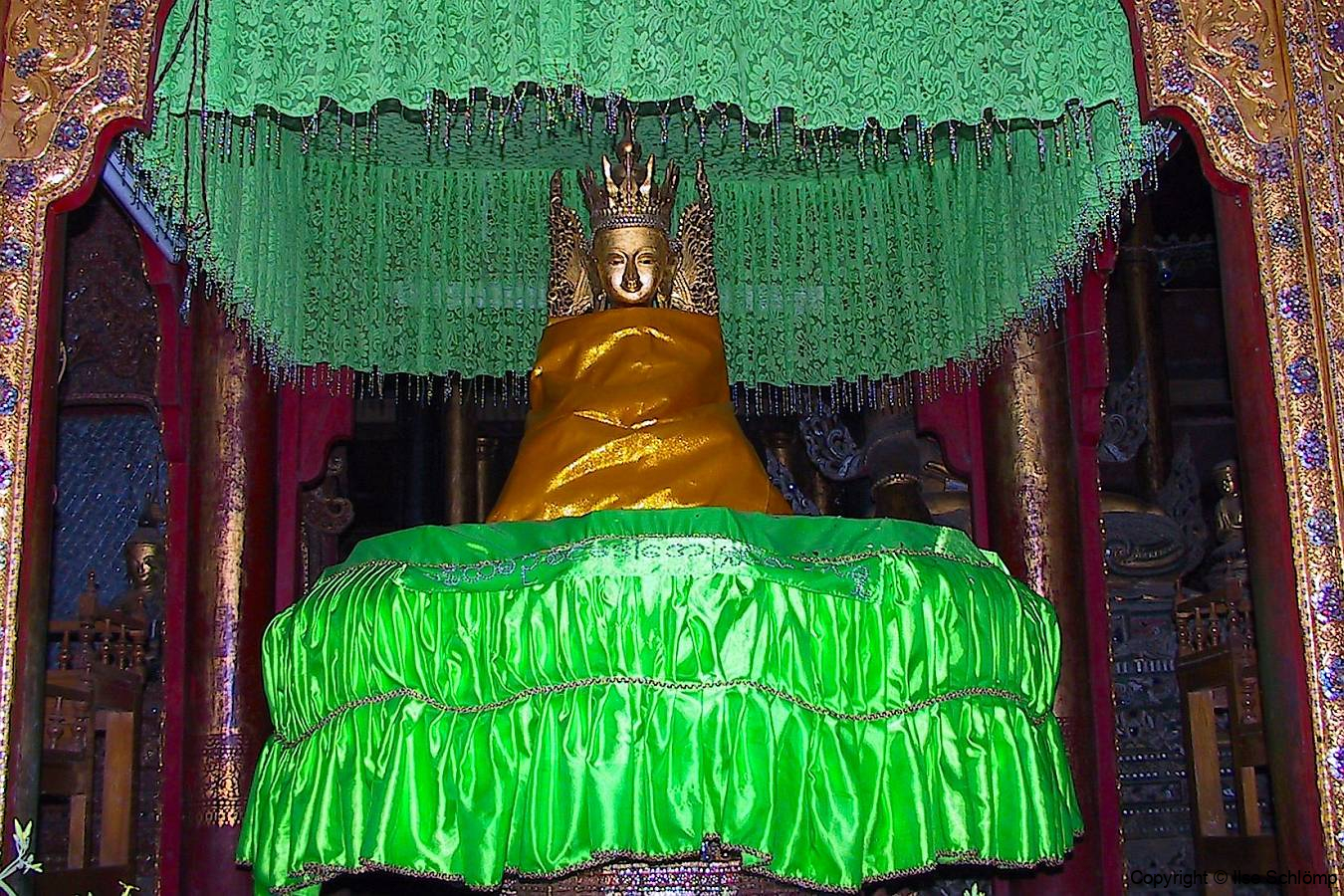Myanmar, Inle See, Nga Phe Kyaung Kloster, Buddhaschrein