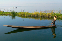 Myanmar, Inle-See, Paradise Inle Resort, Einbeinruderer