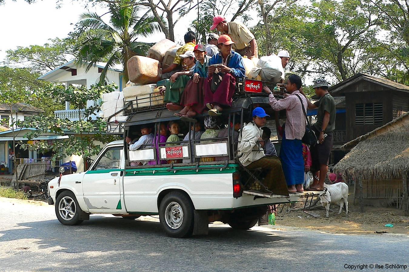 Myanmar, Begegnungen unterwegs auf dem Weg nach Bago