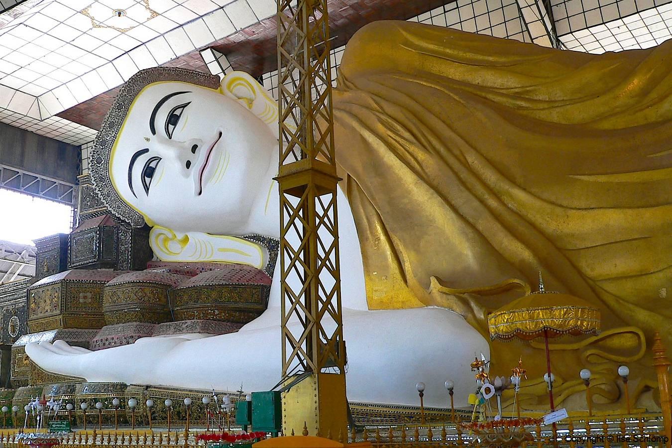 Myanmar, Bago, Shwe Thalyaung Pagode, Liegender Buddha von Bago