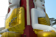 Myanmar, Bago, Kyaik Pun Pagode, Die vier Buddha Statuen