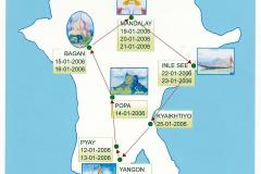 Die Stationen unserer Myanmar-Rundreise