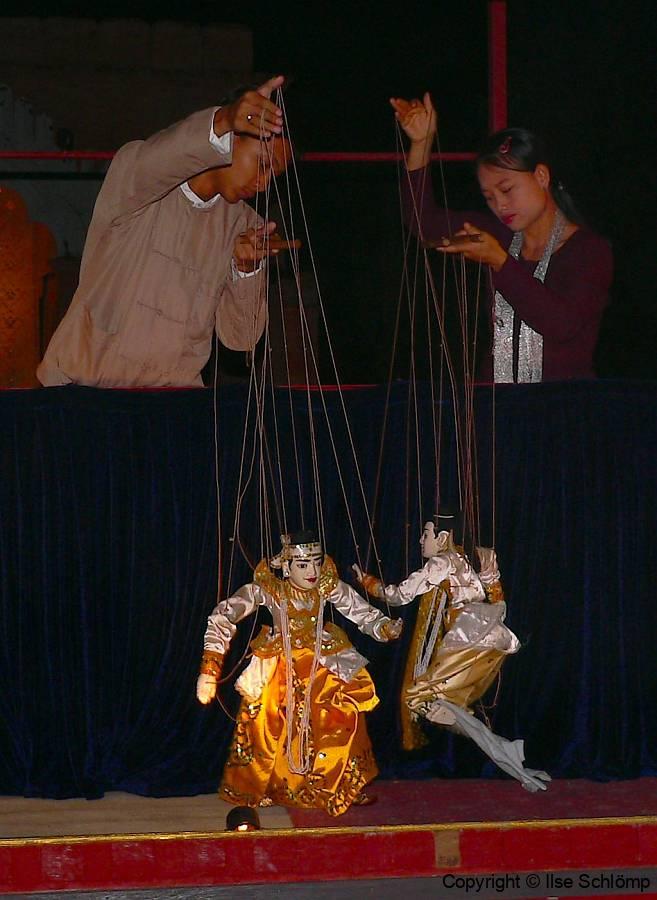 Myanmar, Mandalay, Marionettentheater