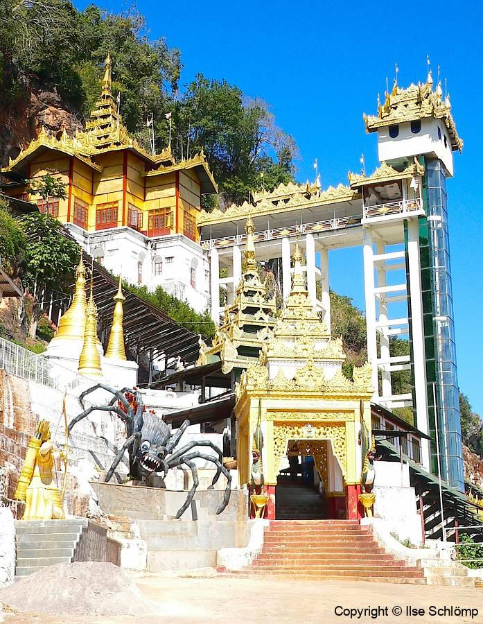 Myanmar, Pindaya, Eingang zur Shwe U Min-Höhle