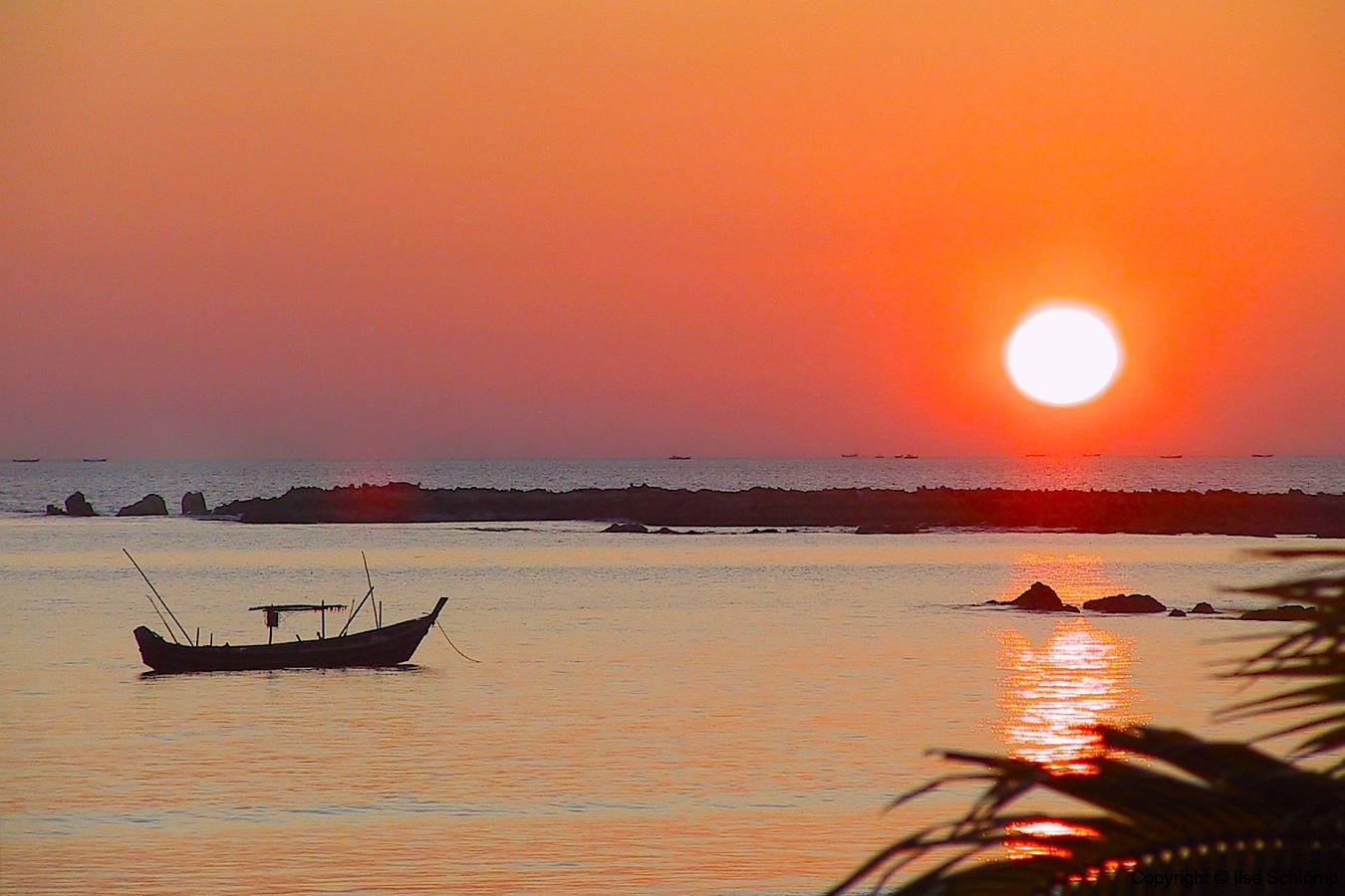 Myanmar, Ngapali Beach, Sonnenuntergang
