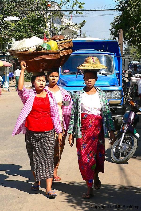 Myanmar, Pyay, Markt