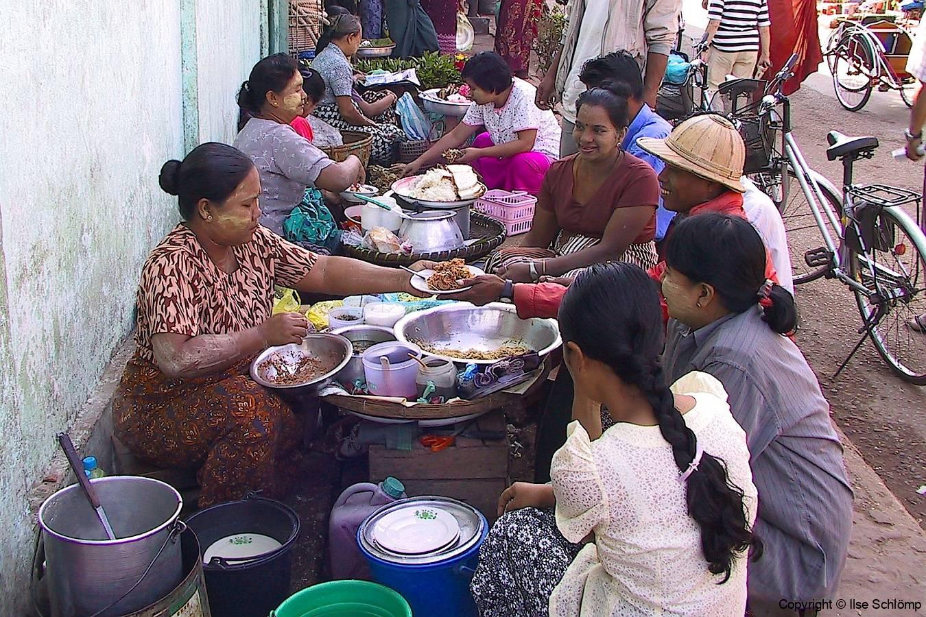 Myanmar, Region Yangon, Markt