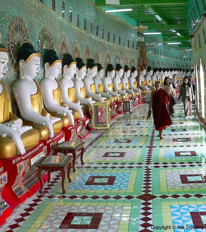 Myanmar, Sagaing Hügel, 30 Höhlen-Pagode U Min Thonze