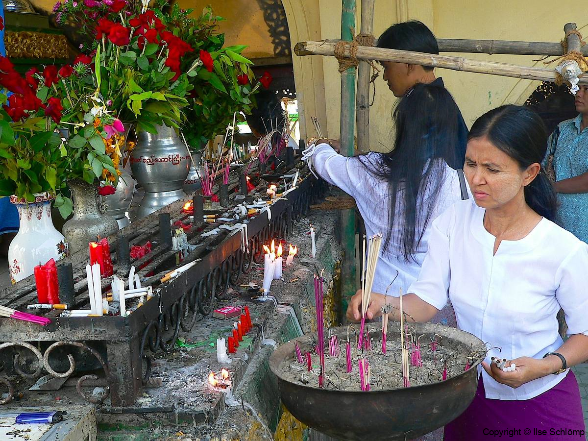 Myanmar, Yangon, Shwedagon Pagode