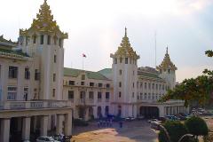 Myanmar, Yangon, Central Railway Station
