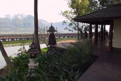 Myanmar, Yangon, Blick vom Kandawgyi Palace Hotel über den Königlichen See