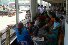 Myanmar, Yangon, Hafen, Fahrt mit der Fähre