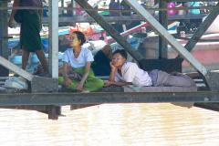 Myanmar, Yangon, Hafen