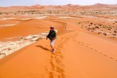 """Namibia, Sossusvlei, Wir erklimmen """"Big Daddy"""""""