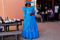 Namibia, Herero-Frau in Tracht