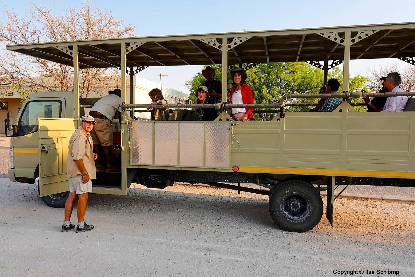 Namibia, Etosha Nationalpark, Start zum Game Drive
