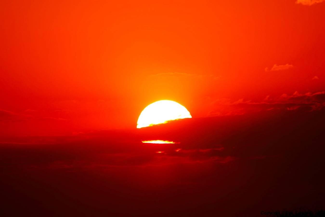 Namibia, Etosha Nationalpark, Sonnenuntergang