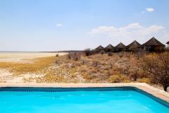 Namibia, Etosha Nationalpark, Salzpfanne, Onkoshi Camp