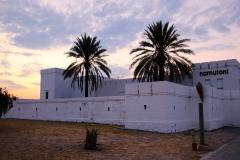 Namibia, Etosha Nationalpark, Fort Namutoni, Abendstimmung